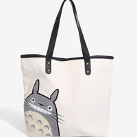 Loungefly Studio Ghibli My Neighbor Totoro Canvas Tote - BoxLunch Exclusive