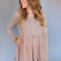 Colorado Pine Tiered Dress Taupe