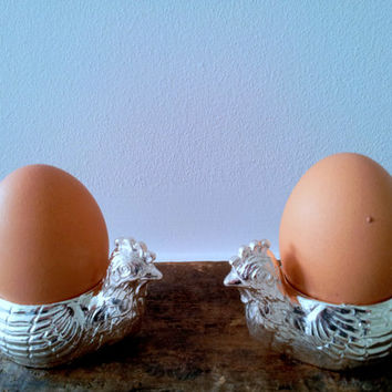 Two Vintage BIRKS Egg Holders Made in England