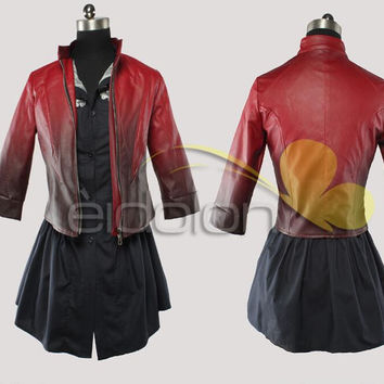 Hot New The Avengers Age of Ultron  Scarlet Witch Cosplay Costumes Animation Suit  HIGH END CUSTOM