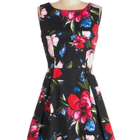 ModCloth Mid-length Sleeveless A-line Sprout About Dress