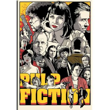 S90 Pulp Fiction Quentin Tarantino Vintage Movie Wall Art Painting Print On Silk Canvas Poster Home Decoration