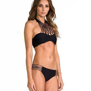 Unique Hollow Out swimwear Set Swimsuit Summer Gift 146