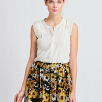 Sunflower Harvest Floral Skirt