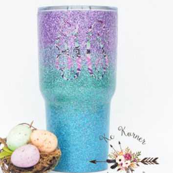 Glitter dipped Yeti, Glitter dipped tumbler, Glitter dipped mug, Personalized Travel mug, Hydrated Water Bottle, Water bottles, Yeti dipped