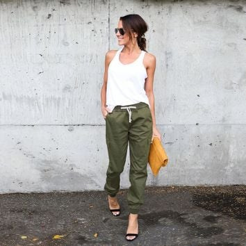 Women High Waist Sports Cargo Pants