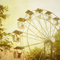 Fine Art Print, Photo Surreal Carnival Ride at the Fair, 8x8 Surreal Home Decor