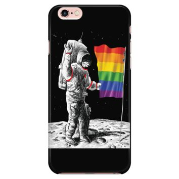 LGBT iPhone Case 7/7s/8 Rainbow Flag On The Moon