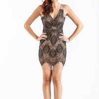 Ally Black Lace Dress