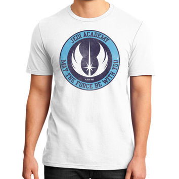 Jedi Academy Est 4019 BBY District T-Shirt (on man)