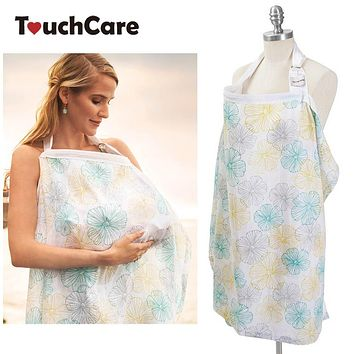 Breathable Baby Nursing Cover Infant Breast Feeding Large Muslin Cloth Breastfeeding Cover Poncho Maternity Apron