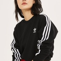 3 Stripe Cropped Sweatshirt by Adidas Originals - New In Fashion - New In
