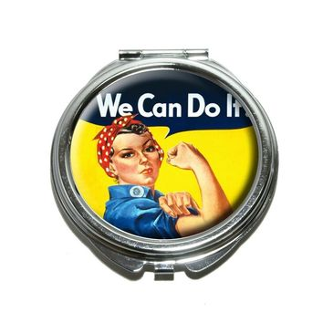 Rosie The Riveter War Poster Compact Mirror