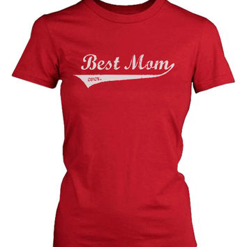 Best Mom Ever Red Cotton Graphic T-Shirt - Cute Mother's Day Gift Idea
