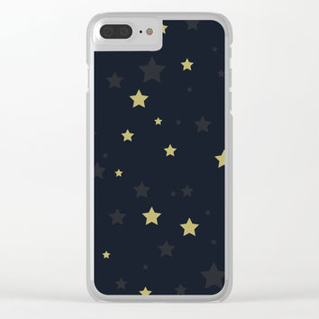 Stars II Clear iPhone Case by printapix