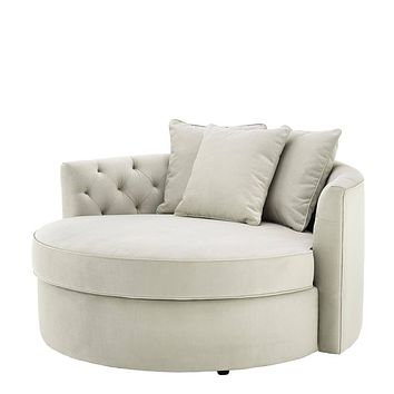 Round Pebble Grey Sofa | Eichholtz Carlita
