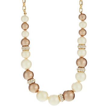 Kate Spade New York Faux Pearl and Pave Necklace