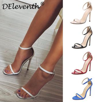 Classics Sexy Women Wedding Shoes Peep Toe Stiletto High Heels Shoes Woman Sandals Black Red Nude