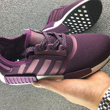 """Women """"Adidas"""" NMD Boost Casual Sports Shoes Purple"""