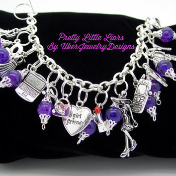 Pretty Little Liars Charm Bracelet Jewelry geekery style #3
