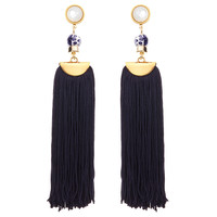 Lizzie Fortunato Tahitian Tassel Earrings - ShopBAZAAR
