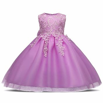 Infant Newborn Girl Summer Christening Dresses Baby Girls First Birthday Party Kids Tutu Dress Princess Tutu Children Clothes