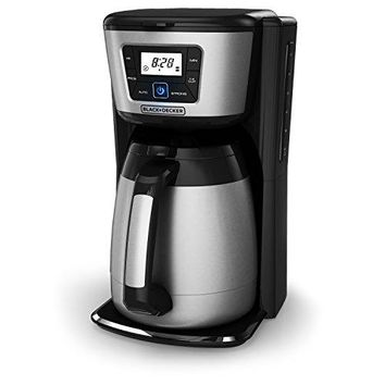 Coffee Maker 12-Cup Thermal Coffeemaker, Black/Silver,