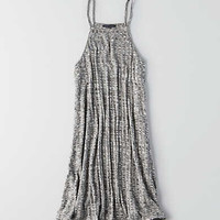 AEO Ribbed Hi-Neck Dress, Gray