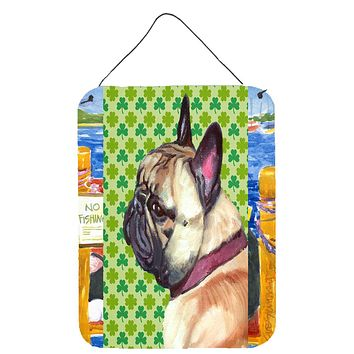 French Bulldog Frenchie St. Patrick's Day Shamrock Wall or Door Hanging Prints LH9573DS1216
