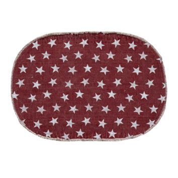 Multi-Star Red - Cotton- Oval - 36 x 60 - Rug
