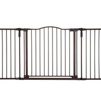 Baby Pet Metal Security Extra Wide Gate Safety Proofing Walk Thru Kids Solid