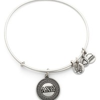 Women's Alex and Ani 'Collegiate - Alpha Chi Omega' Expandable Charm Bangle - Russian