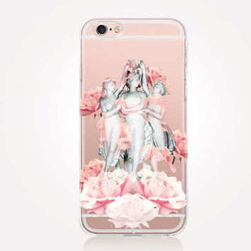 Transparent Statues iPhone Case - Transparent Case - Clear Case - Transparent iPhone 6 - Gel Case - Soft TPU Case - Samsung S7