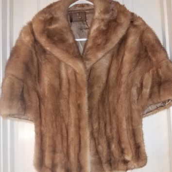 Vintage Mink Stole Light Autumn Haze Fur Stole 1950