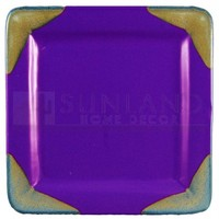 Prado Stoneware - Square Dinner Plate - Purple