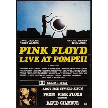 Pink Floyd Live At Pompeii Poster 11 inch x 17 inch poster