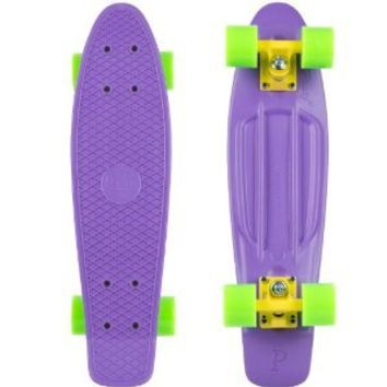 Penny Complete Skateboard (Purple Deck/Yellow Trucks/Green Wheels, 22-Inch)