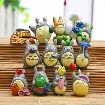 Fairy Garden Miniature Accessories set of 12  Mini Cut Totoro Terrarium Accessories Garden / Plant / Dollhouse Decoration