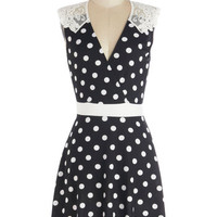 ModCloth Mid-length Sleeveless A-line Everlasting Loveliness Dress in Dots