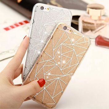 2016 Hot Luxury Bling Glitter Silicone Case For iPhone 5 5S SE / 6 6S Plus Transparent Clear Soft TPU Cover For iPhone 5S Cases