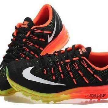 PEAPN Ready Stock Nike Air Max 2016 Black Red White Running Shoes Sport Running Shoes