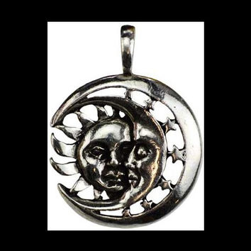 Celestial Repose Amulet Sun and Moon Celtic Pendant