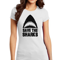 Save The Sharks Juniors T-Shirt