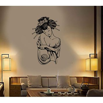 Wall Sticker Vinyl Decal Geisha Japan Beautiful Sexy Oriental Women Unique Gift (ig1299)