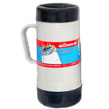 Brentwood 1.0L Glass Vacuum-Foam Insulated Food Thermos
