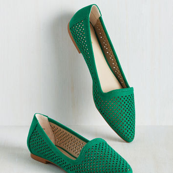 Follow Your Leeds Flat in Emerald | Mod Retro Vintage Flats | ModCloth.com