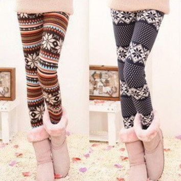 fashion stripe snowflake leggings original price $16.99 from lovely girls