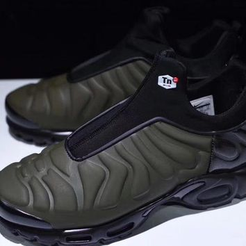 "Nike Air Max Plus Slip SP TN Retro Running Shoes ""Green Black"" 4e137020f"