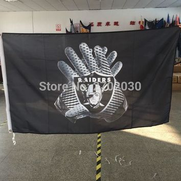 Gloves Flag Oakland Raiders Team Banner Flag Football World Series Premium Team 3ft X 5ft Oakland Raiders Gloves Flag