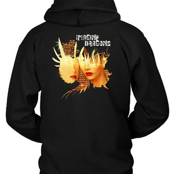 Imagine Dragons Poster Face Hoodie Two Sided
